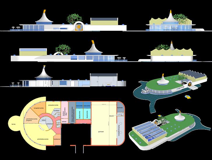 Energie nul wijkcentrum met sportzaal