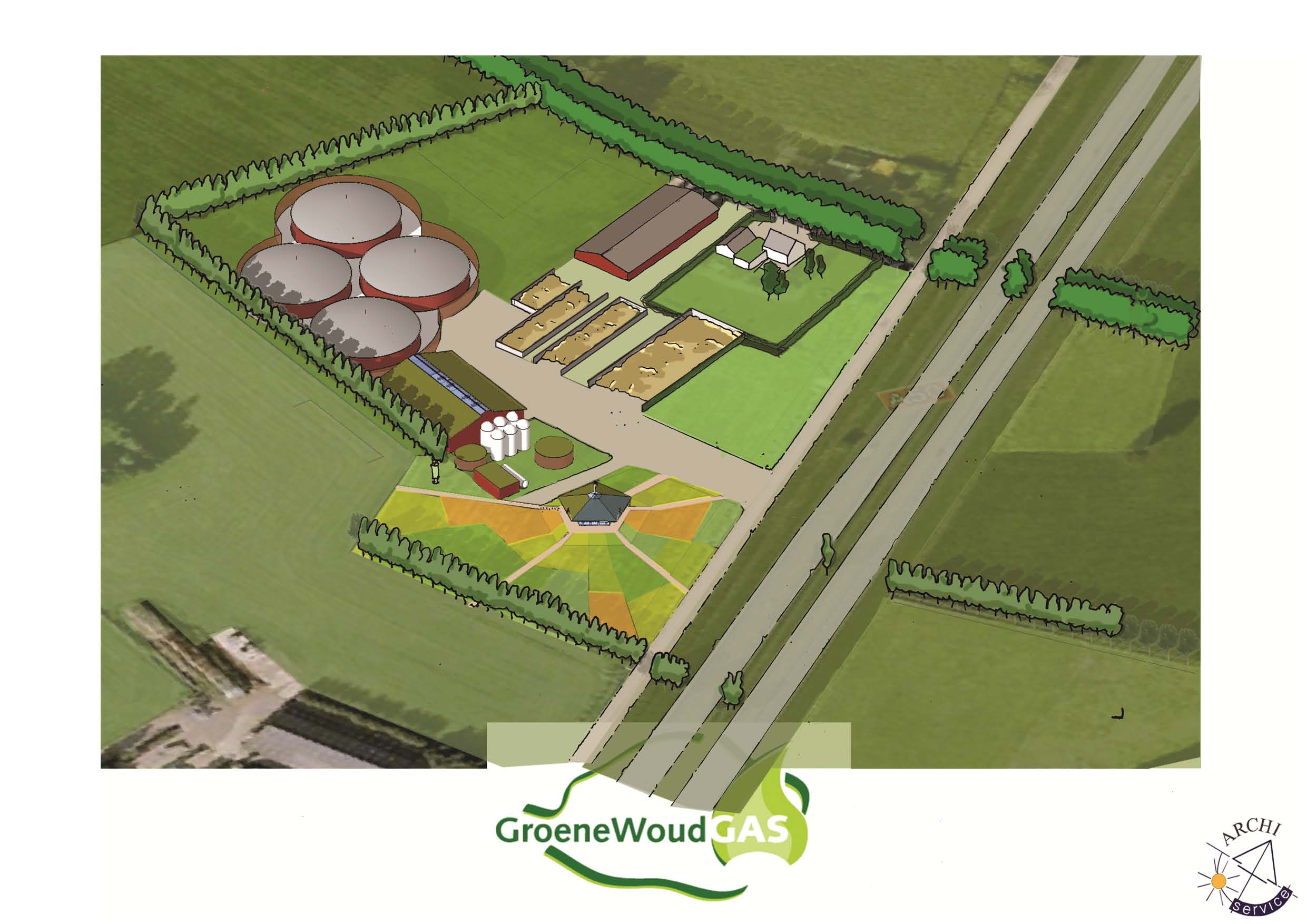 Biogas station met Info centrum St.Oedenrode