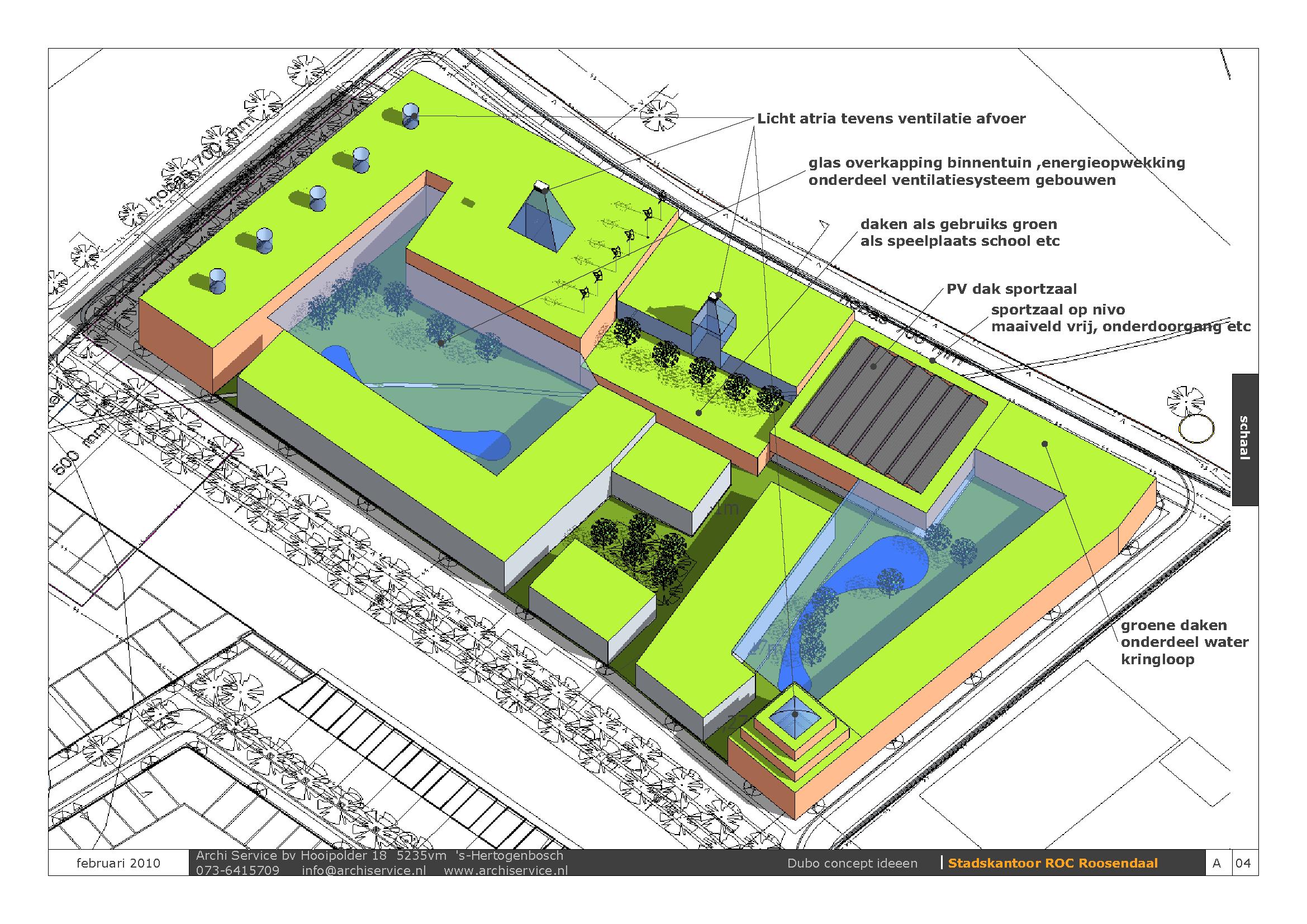Idee concept stadskantoor Roc Roosendaal