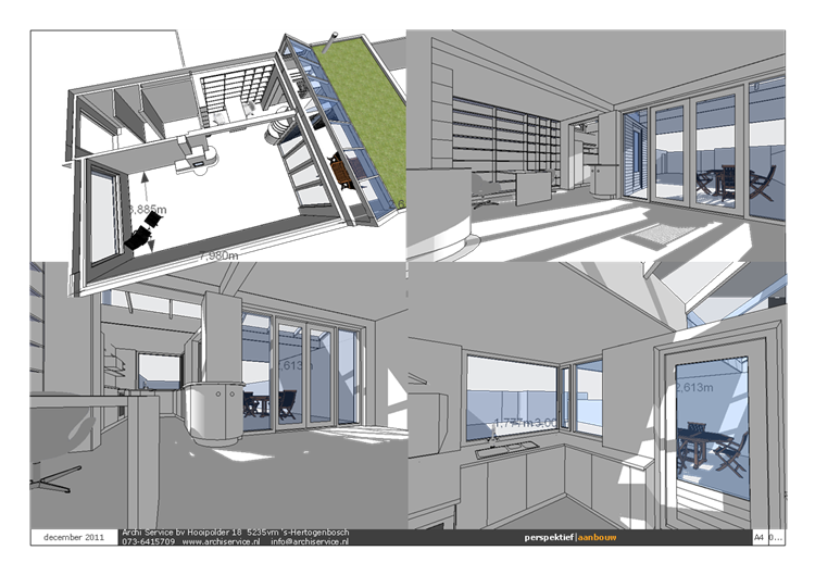 Aanbouw keuken en tuinkamer interieur geluid isolatie buren met voorzet wandverwarming en leemstuc  door Sebunga