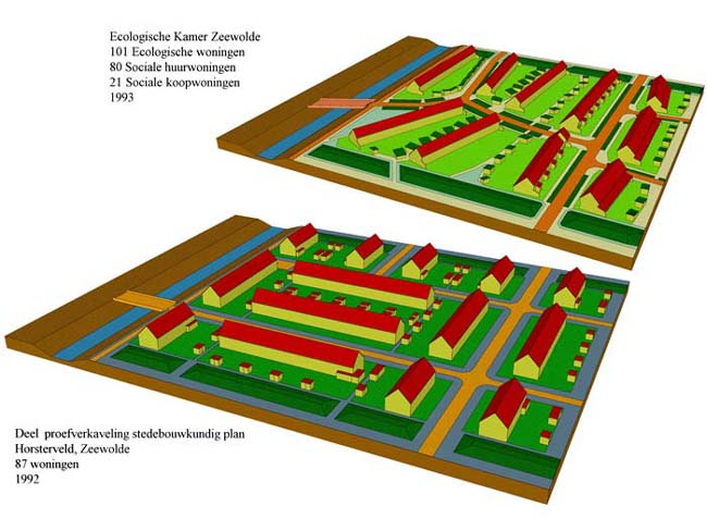 Verkaveling Zeewolde Standaard t.o.v. ecologische verkaveling