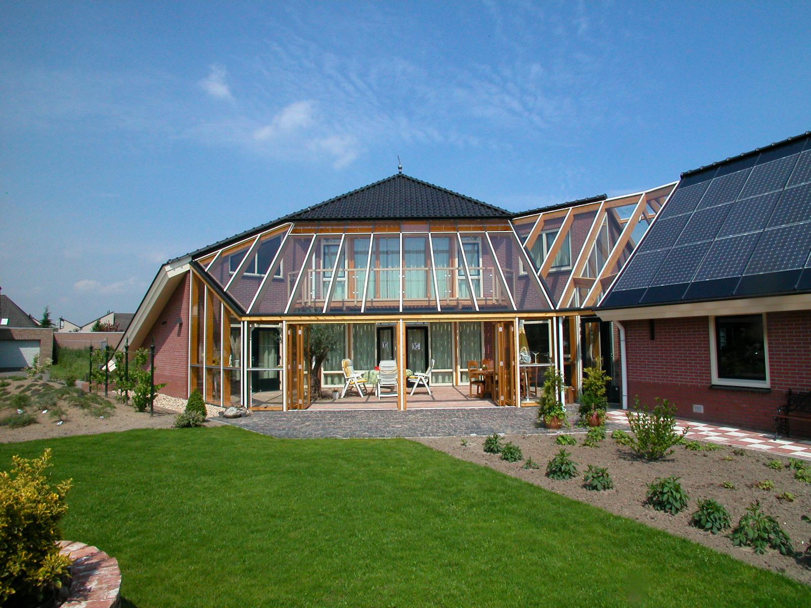 Energie Nul huis Oss  serre voor passieve zonne energie