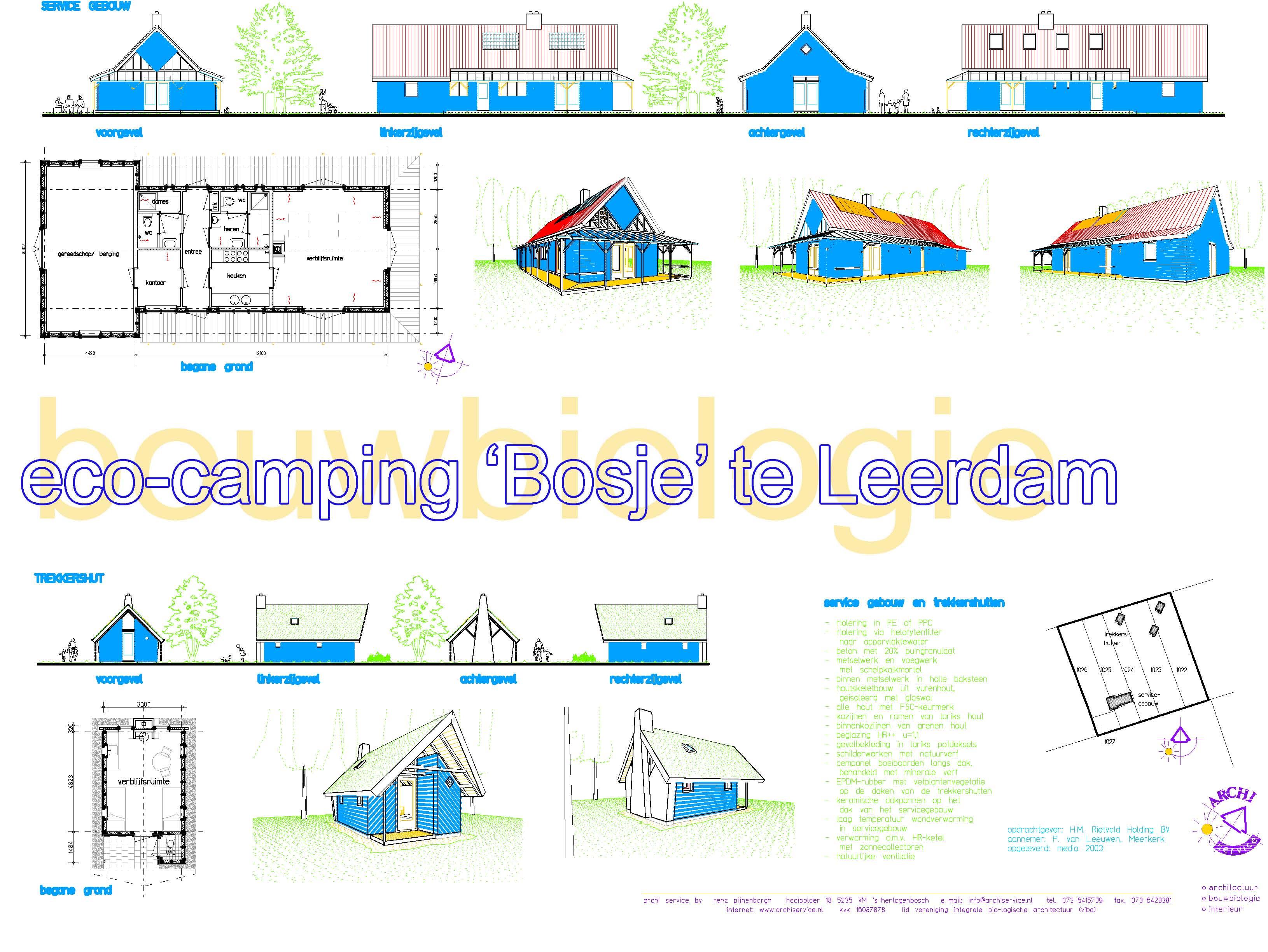 Camping Bosje van Terleeden Leerdam Hoofdgebouw en trekkershutten
